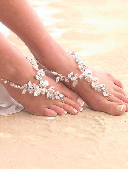 2d3e80659944 Chunky Crystal Barefoot Sandal - Head To Toe Jewels